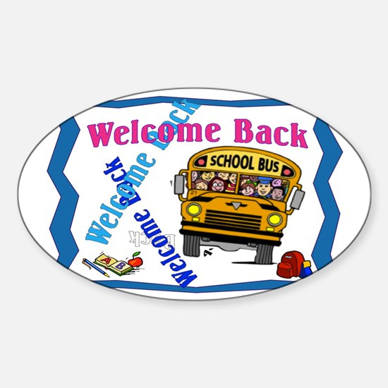 Welcome Back to School Sticker (Oval)