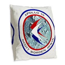 Apollo 15 Mission Patch Burlap Throw Pillow