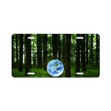 Woods and the earth Aluminum License Plate
