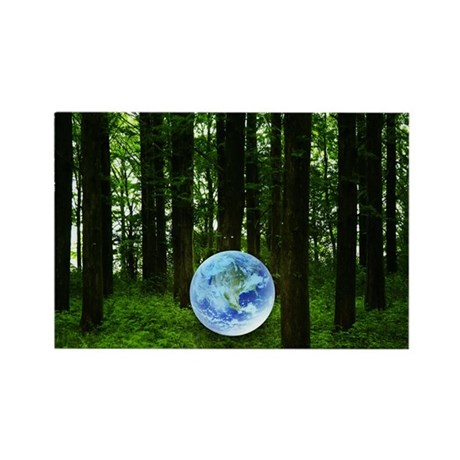 Woods and the earth Rectangle Magnet