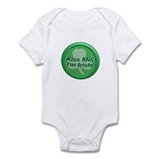 Kiss Me I'm Irish - Shamrock Infant Bodysuit