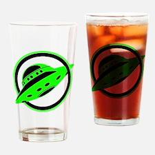 UFO In Flight Drinking Glass