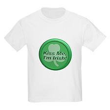 Kiss Me I'm Irish - Shamrock T-Shirt