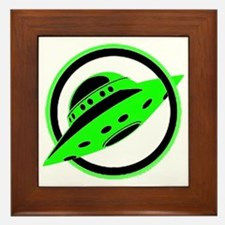 UFO In Flight Framed Tile