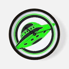 UFO In Flight Wall Clock