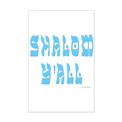 SHALOM Y'ALL Posters