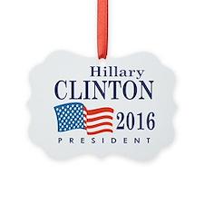 Hillary Clinton 2016 Picture Ornament