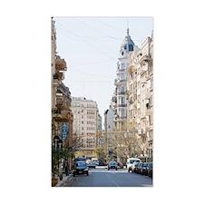 A city street in Retiro Buenos Decal