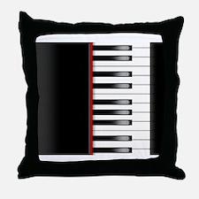 Piano Keyboard King Duvet Throw Pillow