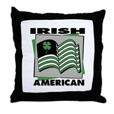 Irish American - Shamrock Throw Pillow