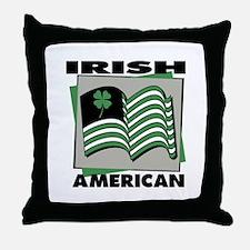 Irish American - Shamrock Throw Pillow