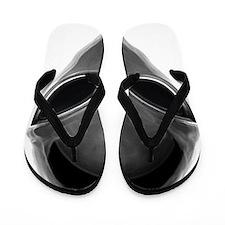 Gray Alien Flip Flops