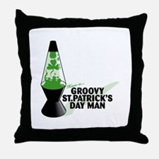 Groovy St. Patrick's Day Throw Pillow