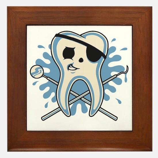 dentist-pirate-T Framed Tile