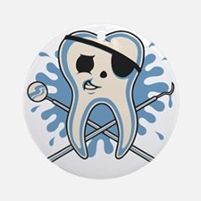 dentist-pirate-T Round Ornament