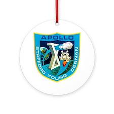 Apollo 10 Mission Patch Round Ornament