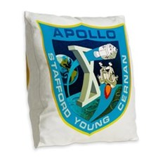 Apollo 10 Mission Patch Burlap Throw Pillow