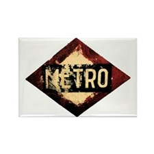 Madrid Metro Rectangle Magnet
