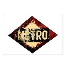Madrid Metro Postcards (Package of 8)