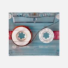 audio cassette pillow case Throw Blanket
