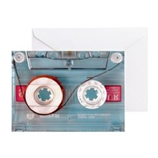 audio cassette pillow case Greeting Card