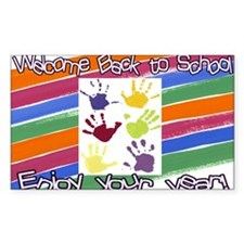 Back to School Handprints Decal