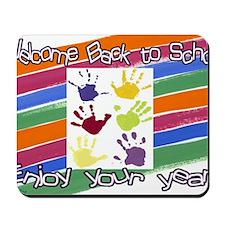 Back to School Handprints Mousepad