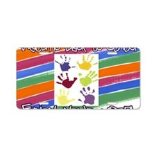 Back to School Handprints Aluminum License Plate