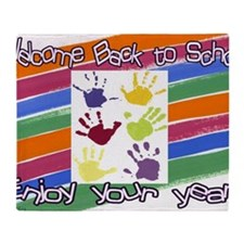 Back to School Handprints Throw Blanket