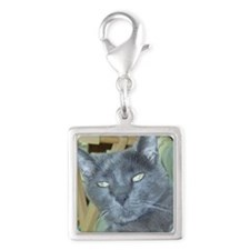 lucky Silver Square Charm
