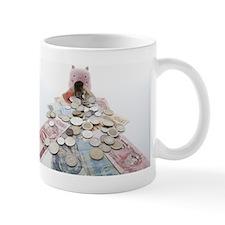Piggy band and Bank notes of BRICs. Mug
