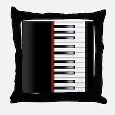 Piano Keyboard Queen Duvet Throw Pillow