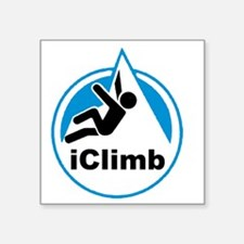 "Rock Climber Square Sticker 3"" x 3"""