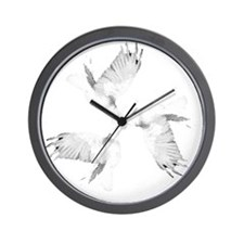 Crow Tessellation Wall Clock