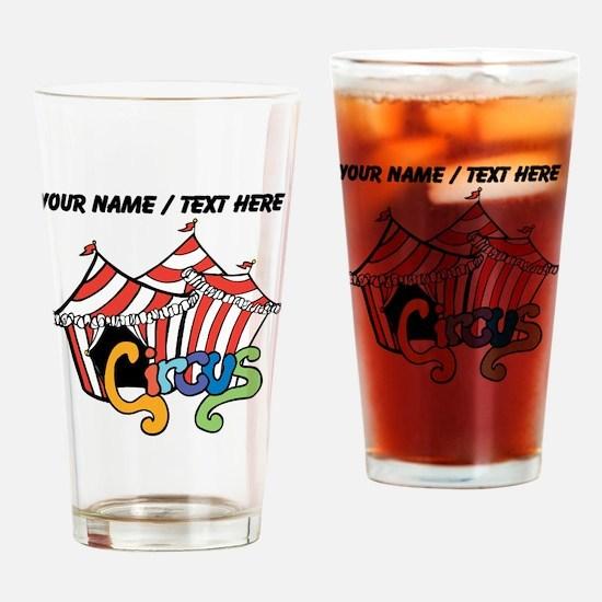 Custom Circus Drinking Glass