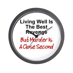 Murder Is Second Wall Clock