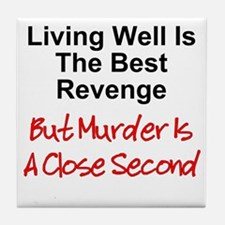 Murder Is Second Tile Coaster