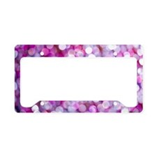 Sequin License Plate Holder