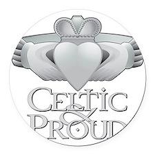 Celtic  Proud Claddagh Round Car Magnet