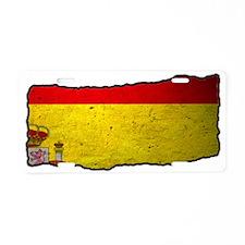 Spanish Flag Slashed Aluminum License Plate