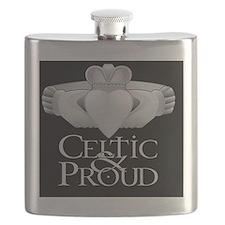 Celtic  Proud Claddagh Flask