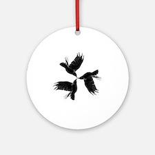 Crow Tessellation Round Ornament