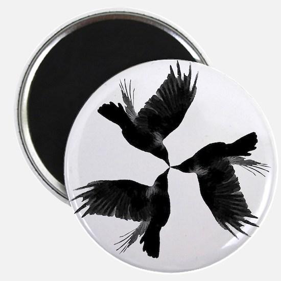 Crow Tessellation Magnet
