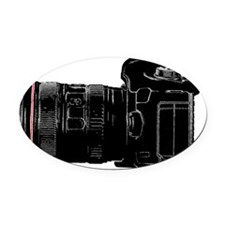 Camera Out! Oval Car Magnet