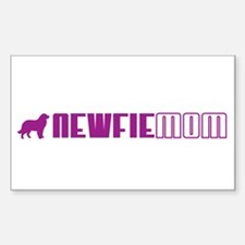 Newfie Mom 2 Rectangle Decal