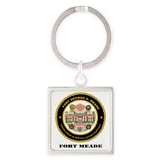 FortMeade-text Square Keychain