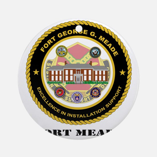 FortMeade-text Round Ornament