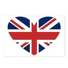 Union Jack Heart Postcards (Package of 8)