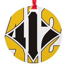 412 Gold/Black-W Ornament