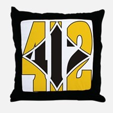 412 Gold/Black-W Throw Pillow